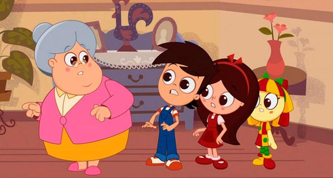 Sítio do Picapau Amarelo em versão desenho animado.