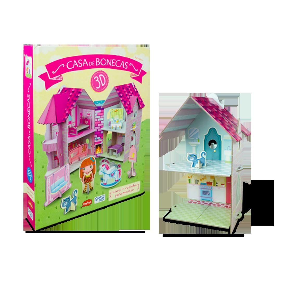 Livro-Brinquedo Casa de Boneca 3D